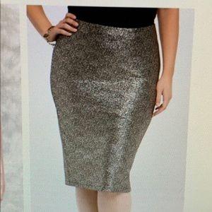 Torrid shimmer pencil gold skirt size 1X